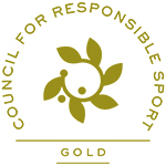 Council for Responsible Sport gold logo
