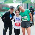 Alexi Pappis and Deena Kastor with fan