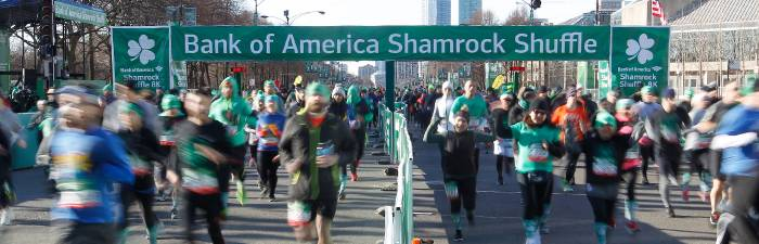 Bank of America Shamrock Shuffle Start Line