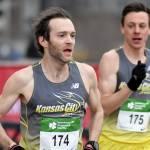 Elite runners nearing the finish line