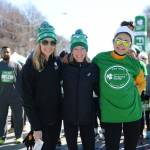 Carrie Toleffson and Deena Kastor at the finish line