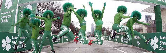 Green Guys at the Start Line