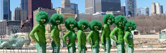 Green Guys in Grant Park