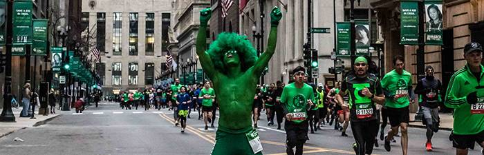 green guy on course